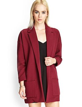 quilted-knit-casual-blazer by forever-21