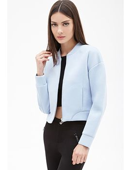 scuba-knit-bomber-jacket by forever-21