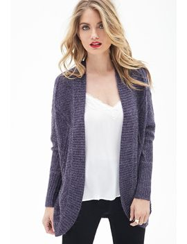 contemporary-cable-knit-batwing-cardigan by forever-21