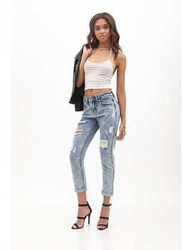 mineral-wash-boyfriend-jeans by forever-21