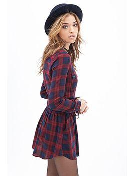 plaid-drawstring-dress by forever-21