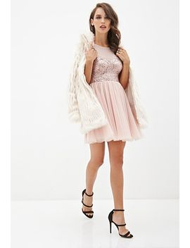 sequined-tulle-tea-dress by forever-21