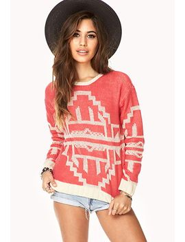 contrast-southwestern-pattern-sweater by forever-21