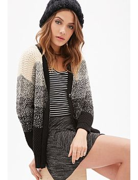 marled-stripe-v-neck-cardigan by forever-21