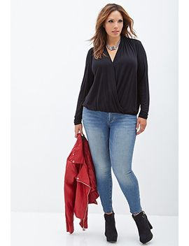 knit-surplice-top by forever-21