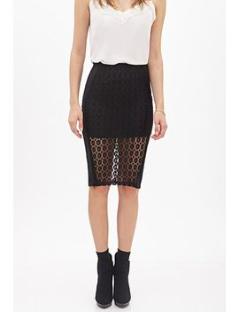 floral-lace-paneled-skirt by forever-21