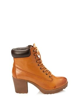 faux-leather-hiking-booties by forever-21