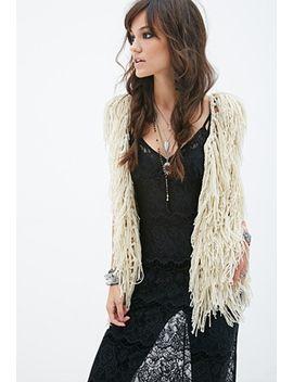 layered-fringe-vest by forever-21