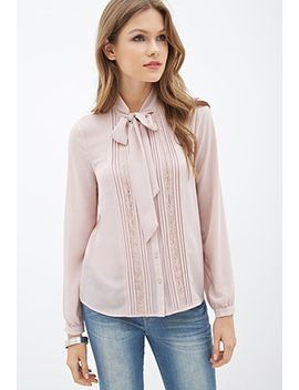 contemporary-self-tie-lace-button-down by forever-21