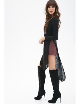 tee-shirt-slit-dress by forever-21