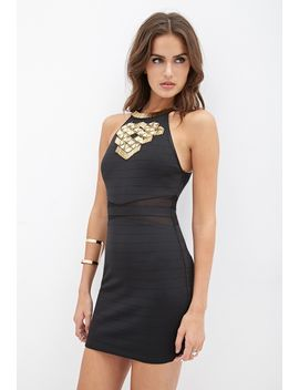 beaded-bandage-dress by forever-21