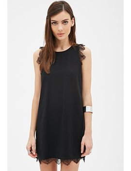 lace-trimmed-shift-dress by forever-21