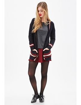 cable-knit-varsity-cardigan by forever-21