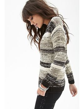 striped-metallic-woven-sweater by forever-21