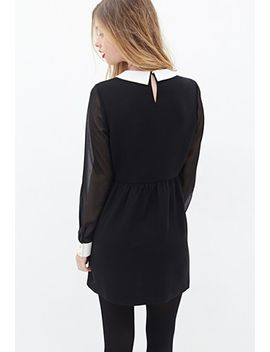 collared-chiffon-dress by forever-21