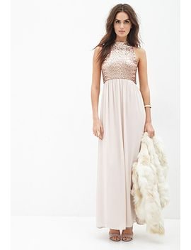 sequined-chiffon-maxi-dress by forever-21