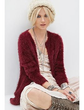 fuzzy-open-front-cardigan by forever-21