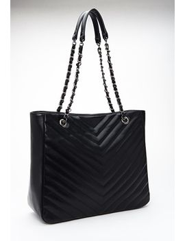 quilted-chevron-tote by forever-21