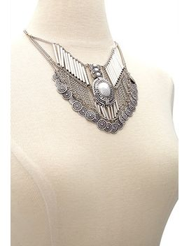 coin-fringe-statement-necklace by forever-21