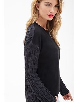 remixed-cable-knit-pullover by forever-21