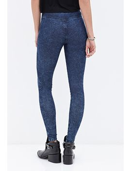 mineral-wash-jeggings by forever-21