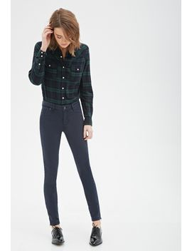 zippered-ankle-skinny-jeans by forever-21
