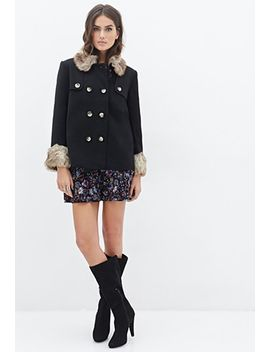 faux-fur-trimmed-a-line-coat by forever-21