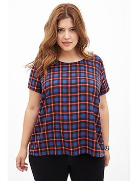 tartan-plaid-woven-tee by forever-21