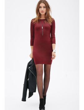 stretch-knit-bodycon-dress by forever-21