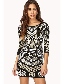 glam-metallic-sweater-dress by forever-21