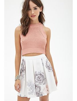 pleated-floral-skirt by forever-21