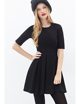buttoned-fit-&-flare-dress by forever-21