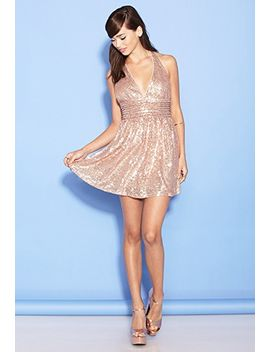sequin-halter-dress by forever-21