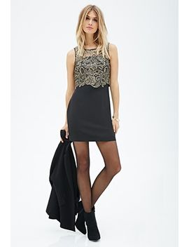 crochet-lace-combo-dress by forever-21
