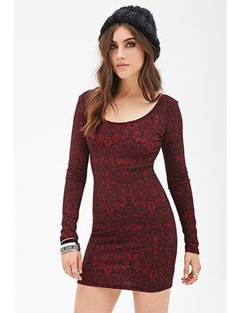 baroque-print-bodycon-dress by forever-21