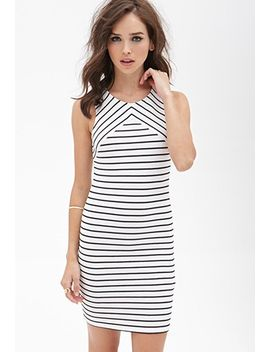 ribbed-knit-striped-dress by forever-21