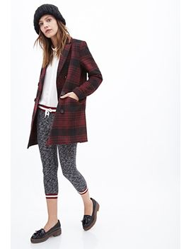 plaid-pea-coat by forever-21