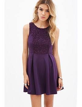 crochet-lace-fit-&-flare-dress by forever-21