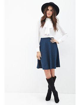floral-matelassé-skirt by forever-21