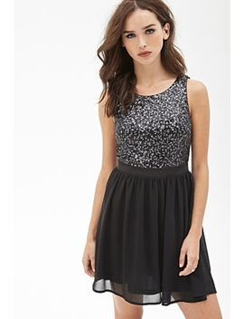 sequined-fit-&-flare-dress by forever-21