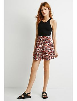contemporary-butterfly-print-scuba-knit-skirt by forever-21