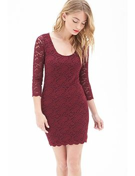 embroidered-lace-sheath-dress by forever-21