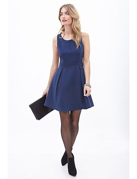 structured-pleated-a-line-dress by forever-21
