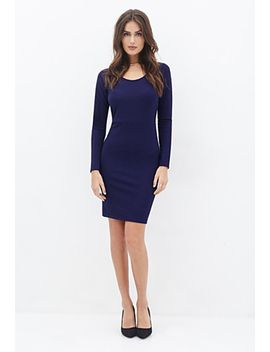 textured-cutout-sheath-dress by forever-21