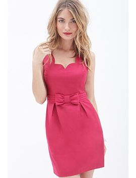 scalloped-bow-front-dress by forever-21