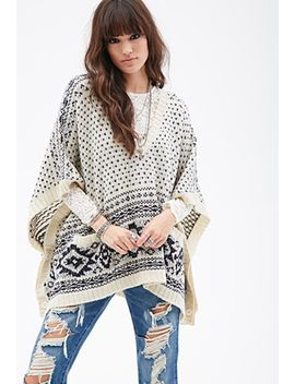 diamond-pattern-poncho by forever-21