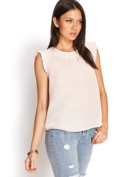 ruffled-woven-top by forever-21