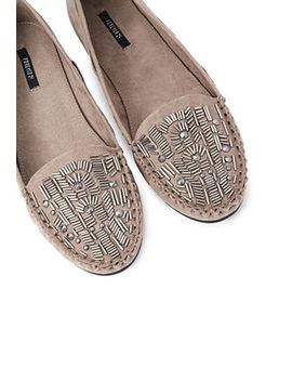 beaded-faux-suede-moccasins by forever-21