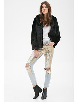 distressed-sequin-jeans by forever-21