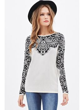 lace-patterned-sweater by forever-21